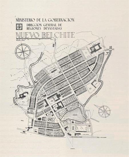Nuevo Belchite. Arquitectos: A. Cámara y A. Allánegui