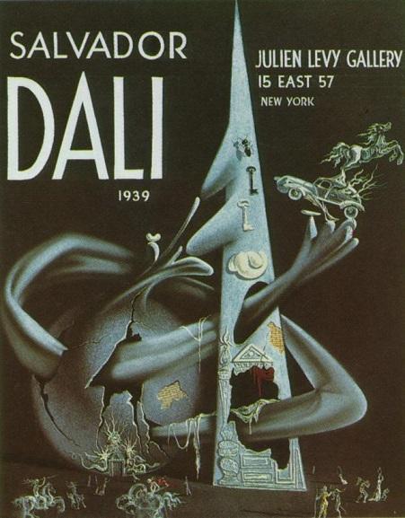 Cubierta del catálogo de la exposición de Dalí en la galería Julien Levy's en Nueva York . 1939