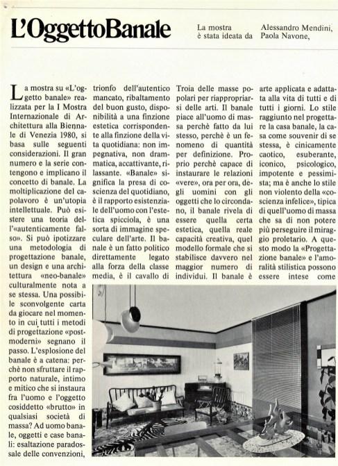 El objeto banal. Bienal 1980.