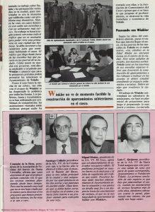 Reportaje de la revista Aquí de 1990 de la visita del profesor Winkler.