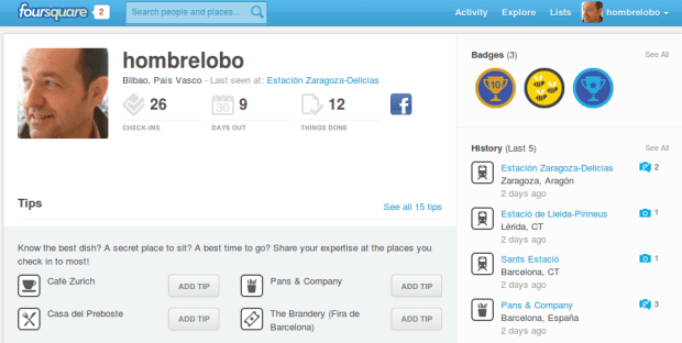 hombrelobo en Foursquare
