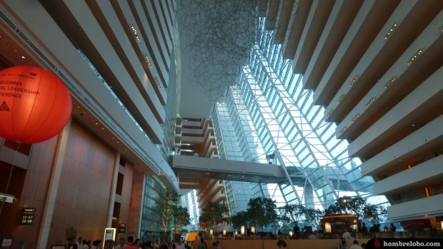 El lobby del Marina Bay Sands