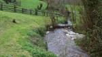 El rio, bajando con agua de la montaña