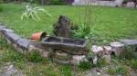 Detalle del jardín de Los Riegos, casa rural en Asturias