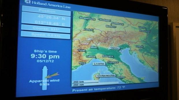 Sistema de información de navegación del Nieuw Amsterdam