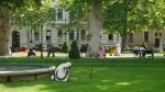 El cerdo bandolero en el parque Zrinjevac de Zagreb