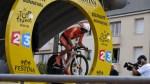 Salida de la crono de Rubén Pérez del Euskaltel Euskadi