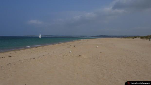 La playa del Puntal en Santander