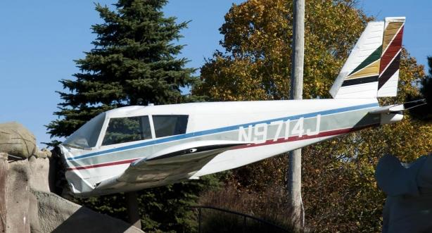 Avión estrellado