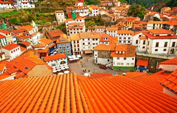 Terrazas en Cudillero, Asturias