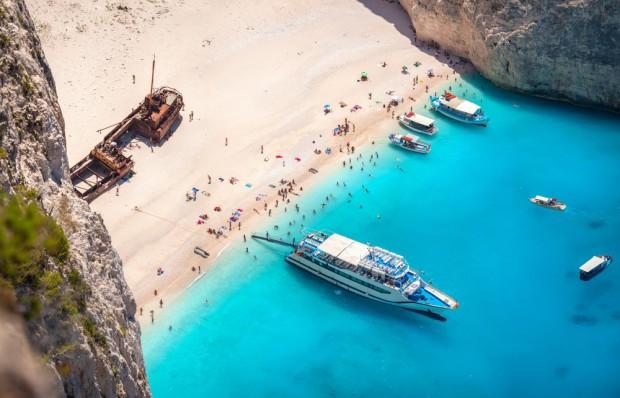 La playa de Navagio, Grecia