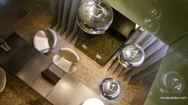 Detalle del lobby del Hotel Barceló Oviedo Cervantes