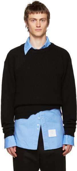 jersey-lana-negro-destruido-raf-simons
