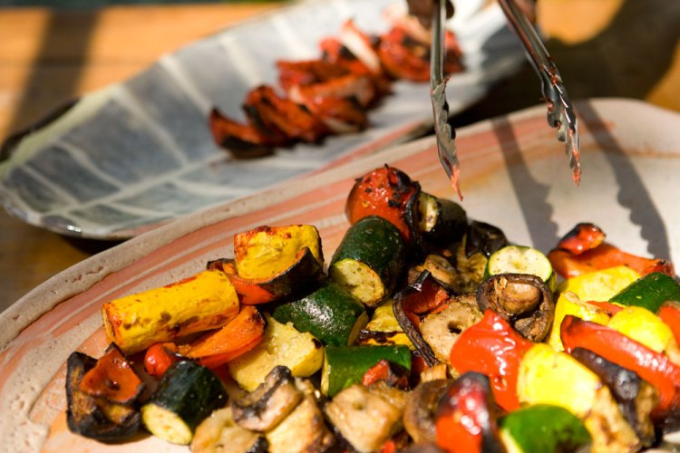 cooked vegetables and cooked paneer (Indian cheese)