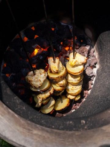 heating up tandoor oven