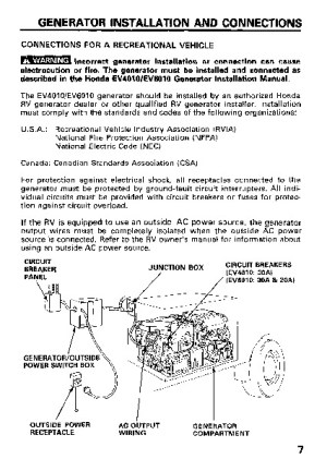 Honda Generator EV4010 EV6010 Owners Manual