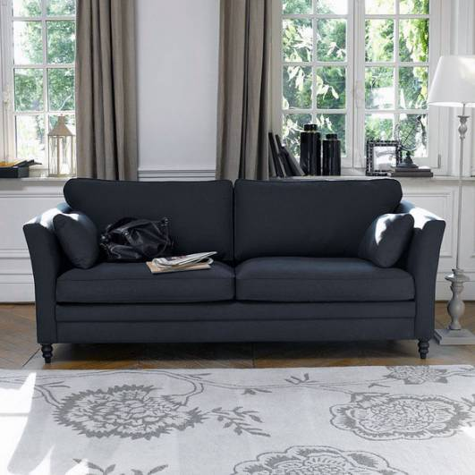 What Colour Curtains Go Best With A Dark Grey And Black Sofa