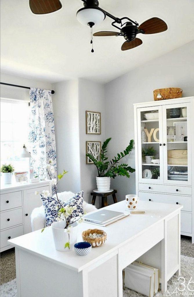 дизайн кабинета в квартире в светлых тонах