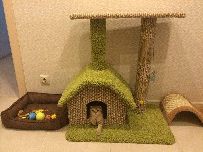 как сделать мягкий домик для кота своими руками