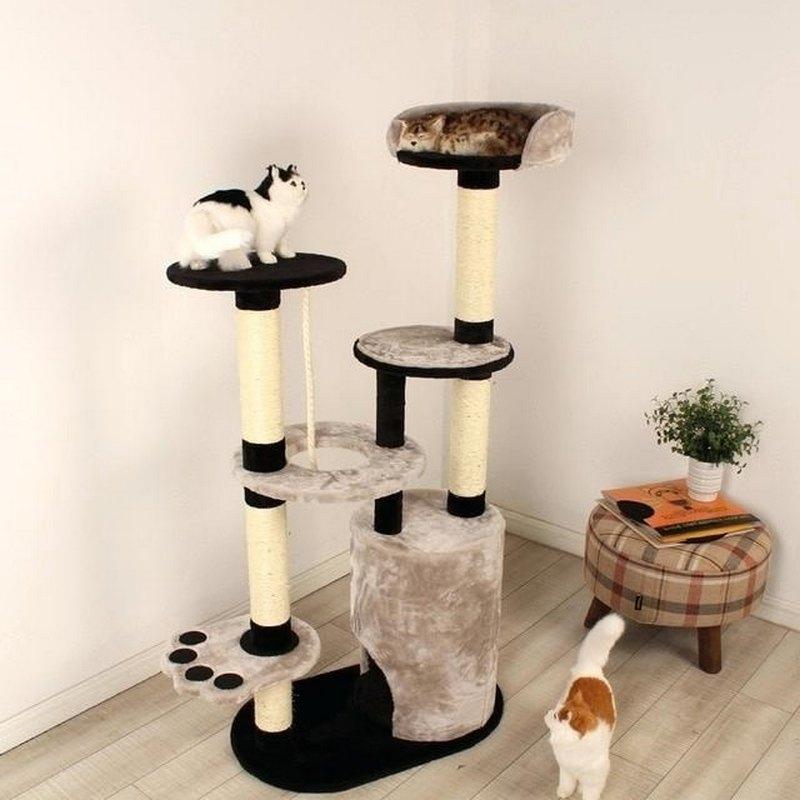 когтеточка с домиком своими руками для больших кошек
