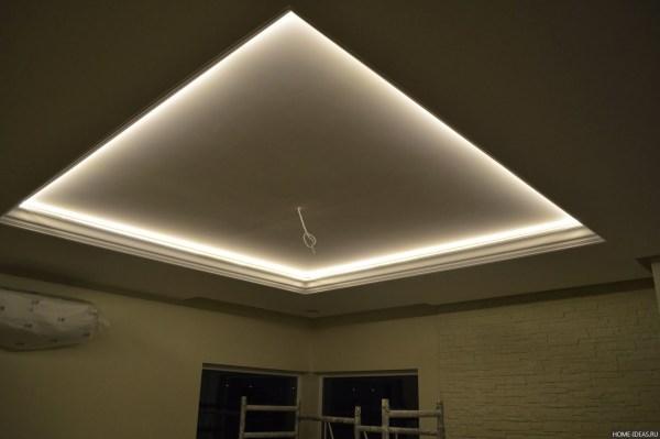 Виды потолков из гипсокартона: фото   Home-ideas.ru
