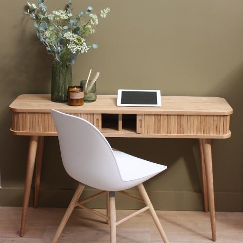 chaise coque blanche-pieds bois-scènes d'intérieur-lyon-zuiver