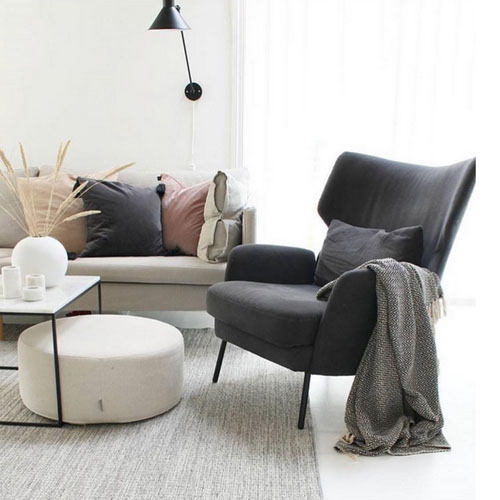 fauteuil-scandinave-vintage-scènes d'intérieur lyon-sits