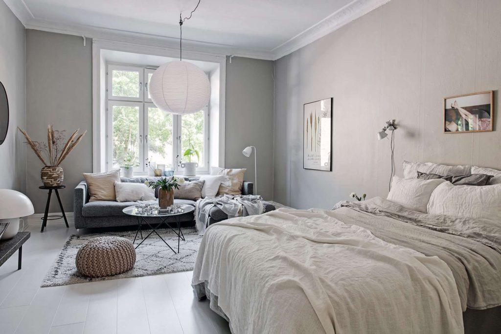 salon gris et beige home staging deco