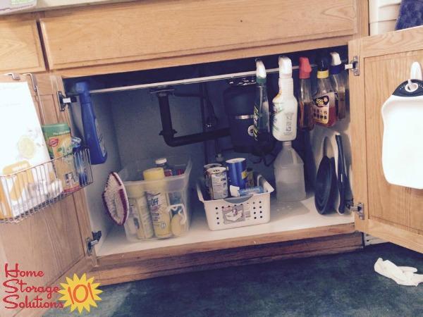 Under Kitchen Sink Cabinet Organization: Ideas You Can Use