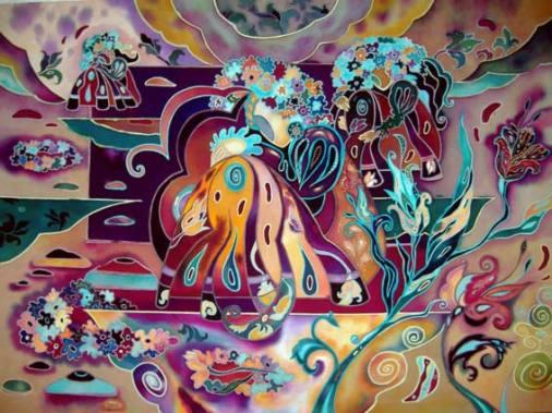 Батик абстракция