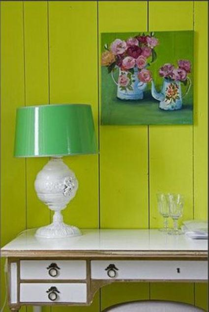 лимонные стены настольная лампа