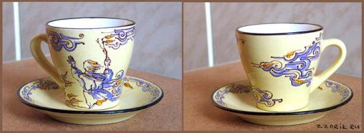 роспись чайных кружек витражными красками