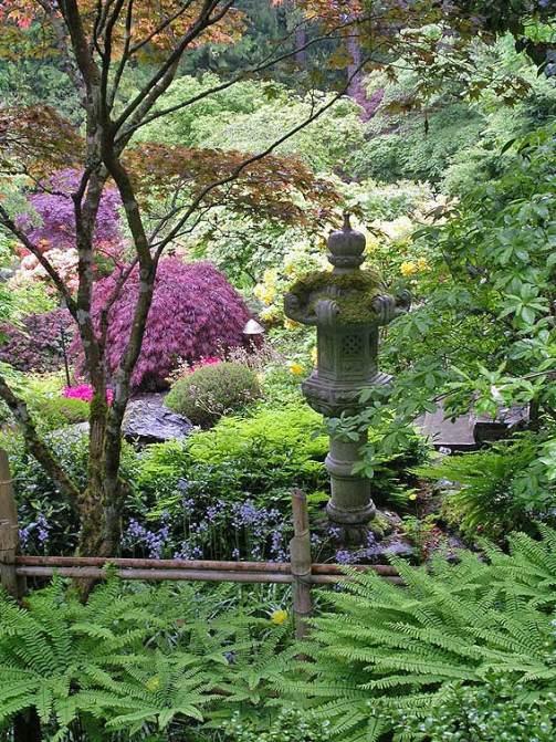 японский сад - декоративная ваза