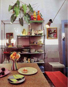 яркий декор столовой комнаты