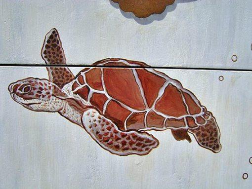 роспись комода - черепаха