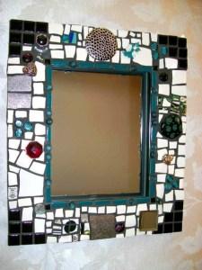 декоративное зеркало хенд-мейд мозаика