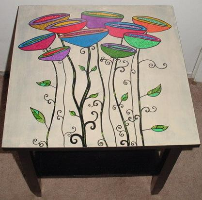 роспись мебели акрилом