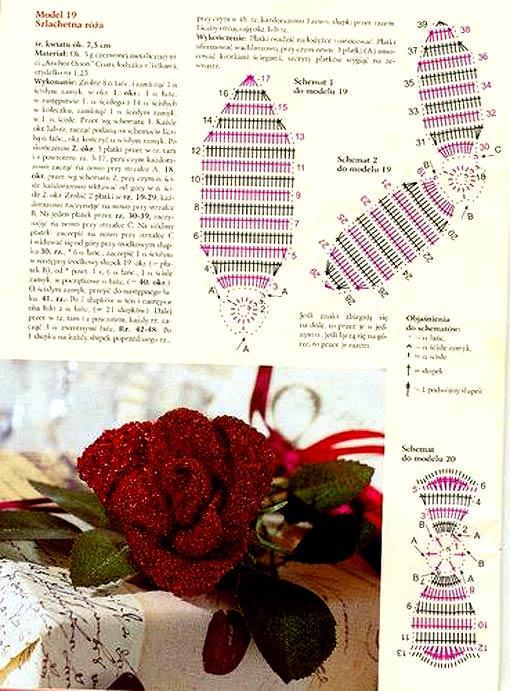 схема цветы крючком