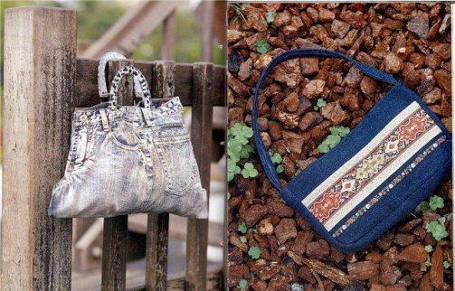 сумка сделать из старых джинсов
