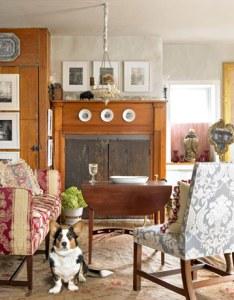 яркий интерьер одного дома