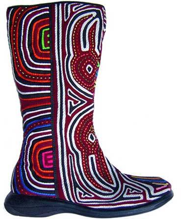 сапоги этнические роспись обуви