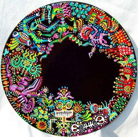 роспись тарелок акрилом - чудовища