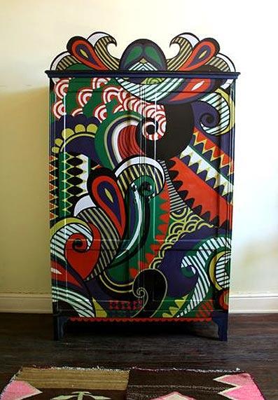 роспись мебели шкаф лукас райс