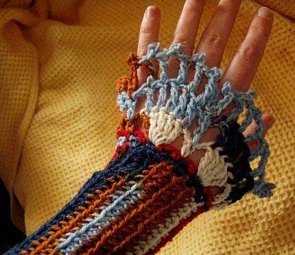 обвязка рукава крючком