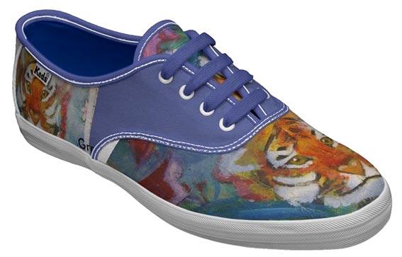 роспись обуви акрилом кеды