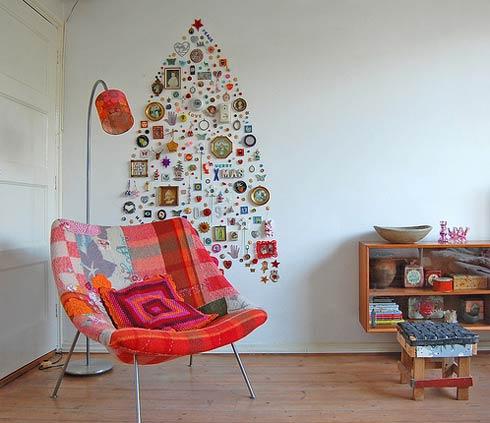 креативная идея декорирование новогодняя елка