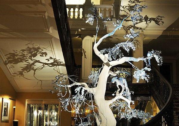 оригинальный новогодний декор дерево хенд-мейд