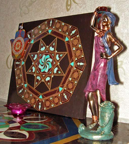 столешница этническая роспись акрилом