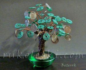 денежное дерево из бисера мастер класс