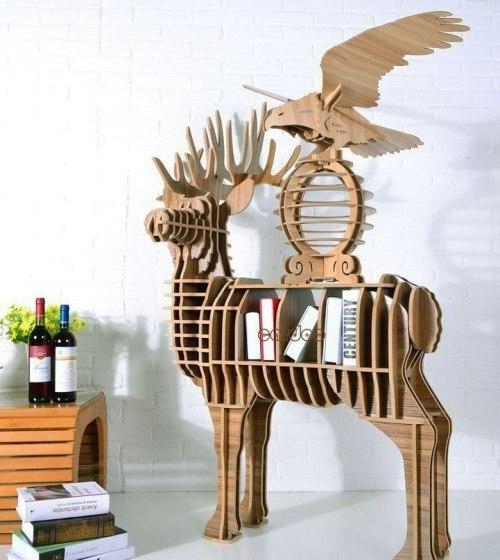 Необычная полка для книг в виде животного